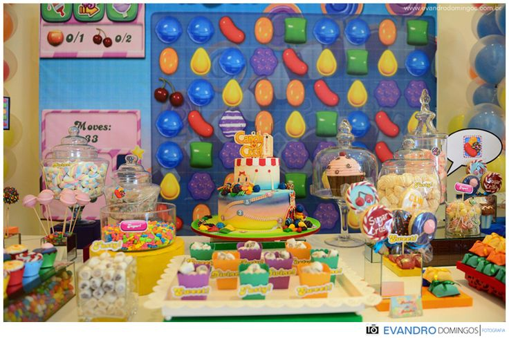 decoração Candy Crush: Candies Crushes Saga, Tema Candies, Decoração Candies, Crushes Parties, Gift Parties Ideas, De Candies