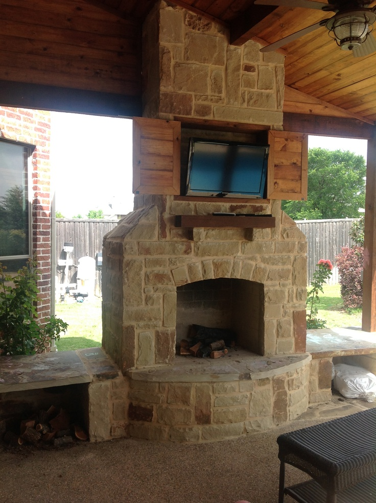 23 best images about Pergola with Fireplace on Pinterest