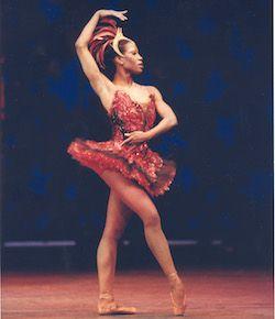 Lauren Anderson in Ben Stevenson's 'Firebird'. Photo by Geoff Winningham, courtesy of Houston Ballet
