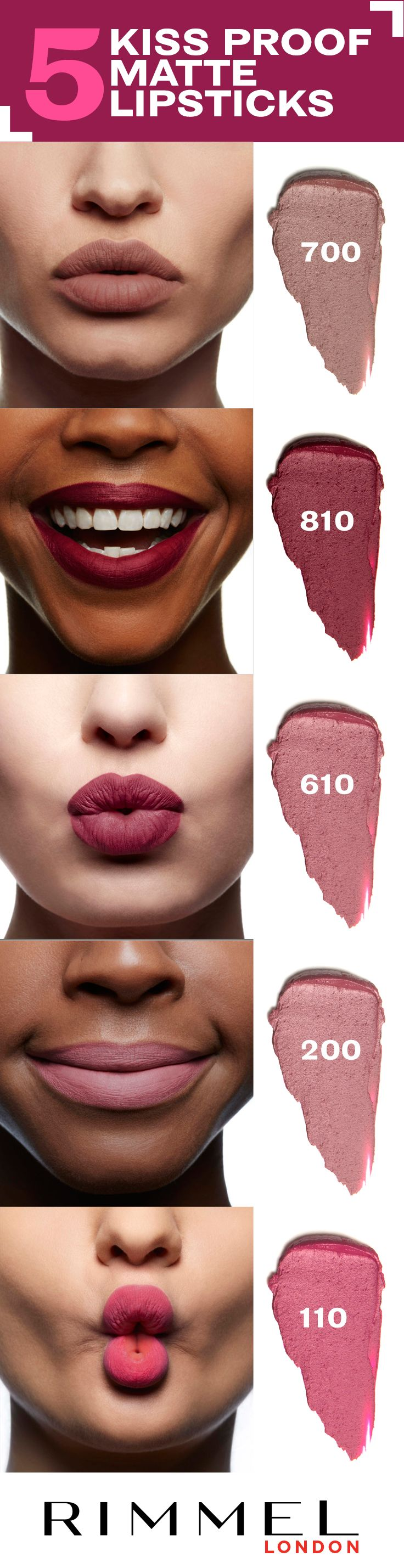 Been wanting to try matte lipstick? The Only 1 Matte collection from Rimmel London is available in 10 bold, beautiful shades, so you're sure to find the right lip colour for your skin tone.
