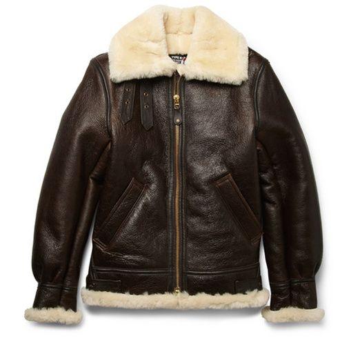 Un manteau doublé de laine de mouton -Schott