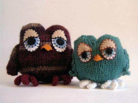Free knitting owls. sooooooo cute, thanks so for this cutey xox