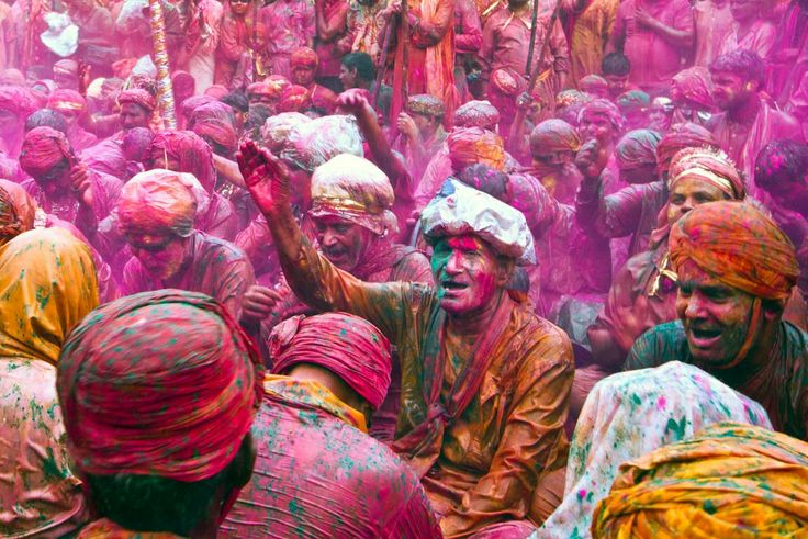 Colourful powder covering everything in sight at the Holi Festival in India. Vishal Gulati