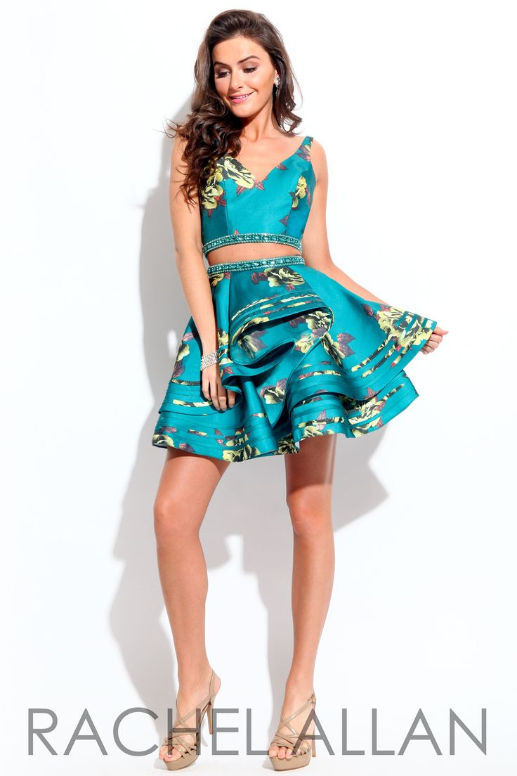Rachel Allan 4124 Deap Teal Homecoming Dress