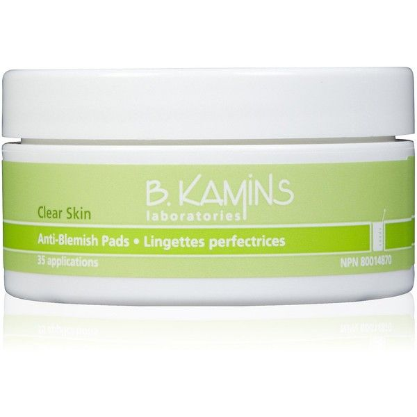 B. Kamins Anti Blemish Pads (£22) ❤ liked on Polyvore featuring beauty products, skincare, face care, face cleansers, fillers, green fillers, makeup, moisturizing face wash, moisturizing facial cleanser and antibacterial face wash