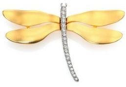 Kenneth Jay Lane Pave Dragonfly Brooch