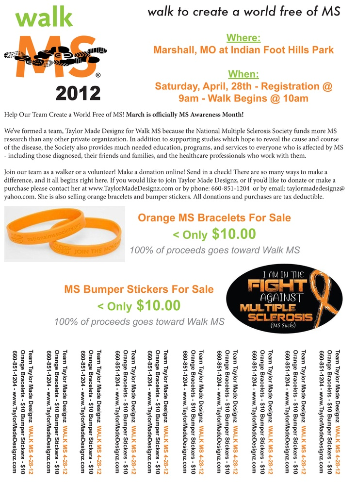 26 best Multiple Sclerosis Awareness \ Fundraising images on - fundraising flyer