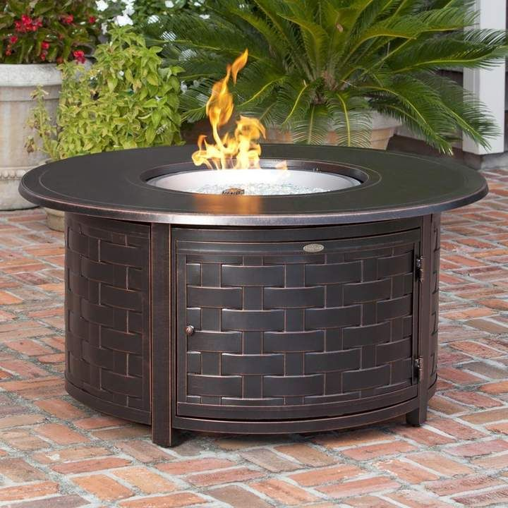 Fire Sense Perissa Aluminum Propane Fire Pit Table Round Propane Fire Pit Round Fire Pit Table Gas Firepit