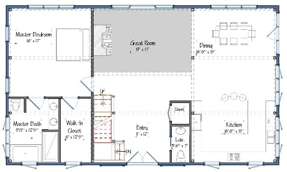 Pole barn house plans blueprints woodworking projects plans - Houses bedroom first floor fit needs ...