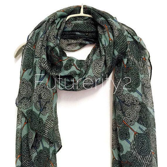 Geheim Forest Teal groen zomer sjaal / sjaal lente / herfst sjaal / vrouwen sjaals / giften voor haar / accessoires