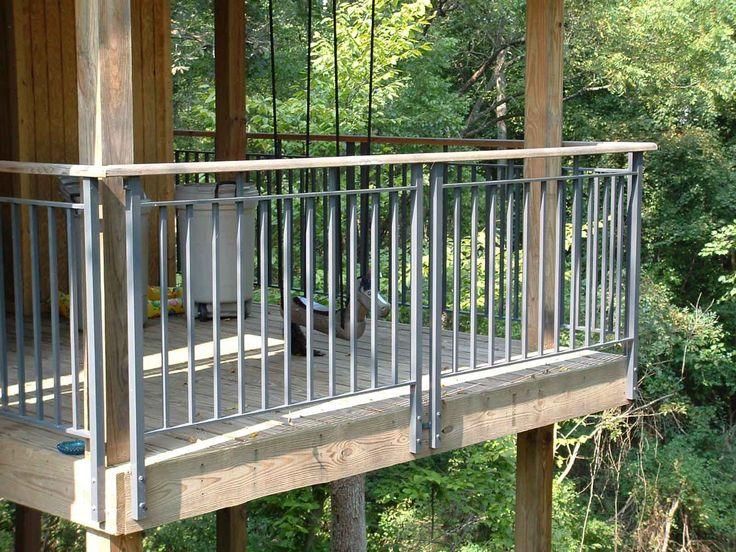 outdoor deck railings ideas. face mount balcony railing | aluminum deck railings 4 outdoor ideas o