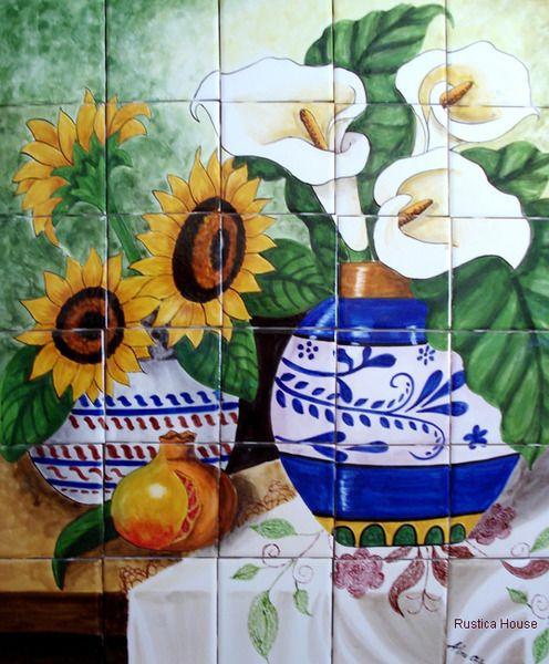 Decorative Wall Tile Murals Stunning 175 Best Decorative Tile Murals Images On Pinterest  Decorative Design Decoration