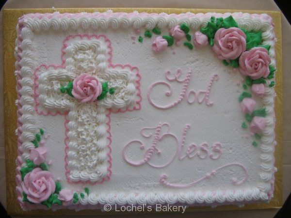 Yellow Pink Cross #51Religious This cake is a more traditional design and is perfect for a small get together. Description from pinterest.com. I searched for this on bing.com/images