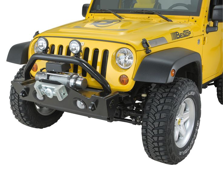 Developed specifically for the hard core rock crawler, the front and rear bumpers feature a high-clearance design for greater off-road mobility. These durable and stylish bumpers feature E-Coat rust prevention and a durable black powder-coat finish.