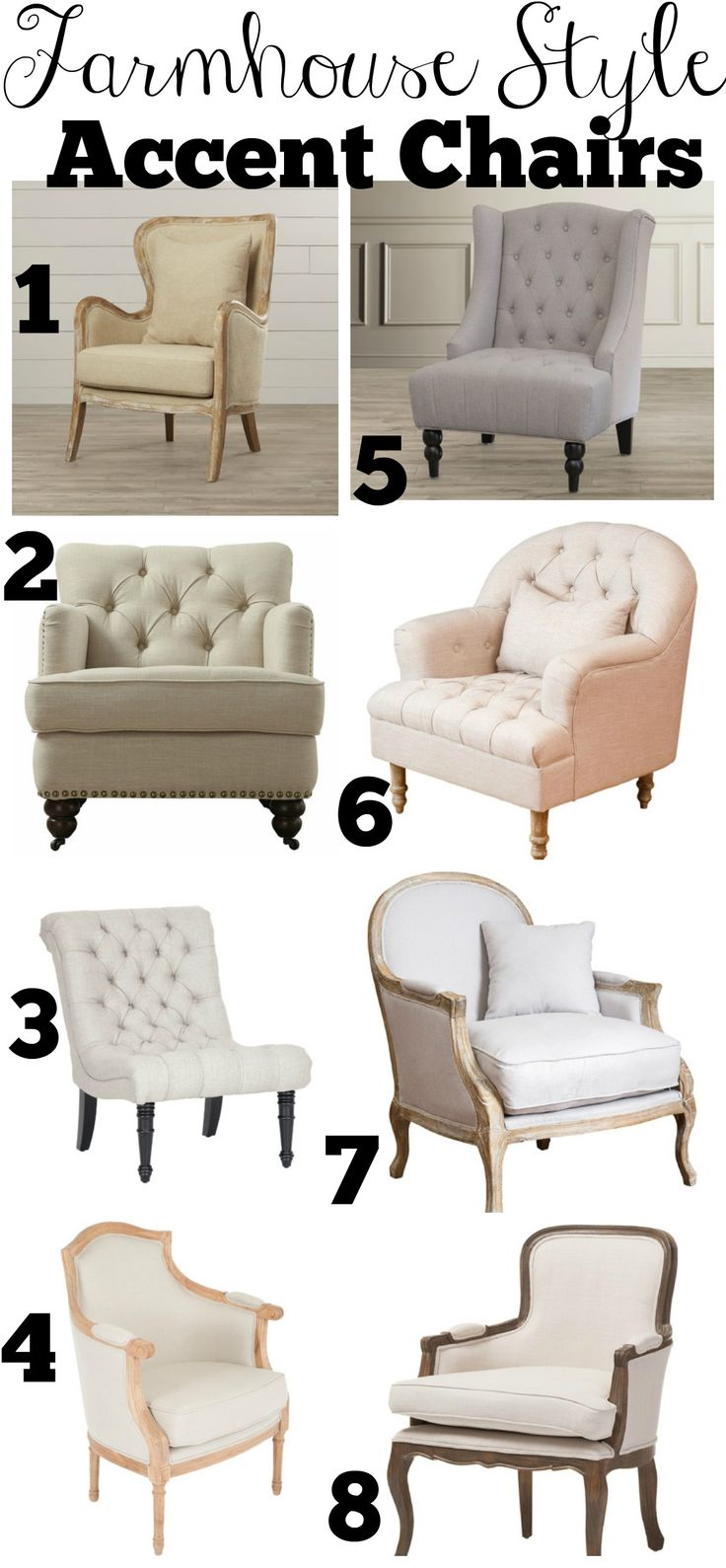 Affordable Farmhouse Style Accent Chairs Best 25  chairs ideas on Pinterest for