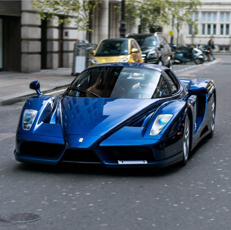 Ferrari Enzo Painted In Tour De France Blue Photo Taken By Bd Automotive