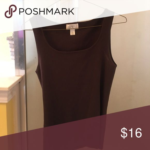 Anne Taylor Loft Tank Top This pretty tee top is a much needed addition to your wardrobe! Anne Taylor Loft Tops Tank Tops