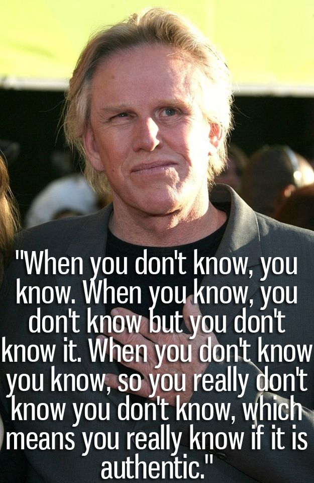 The Craziest Things Gary Busey Has Said...also, I thought for a second this was Abercrombie's CEO...scary either way
