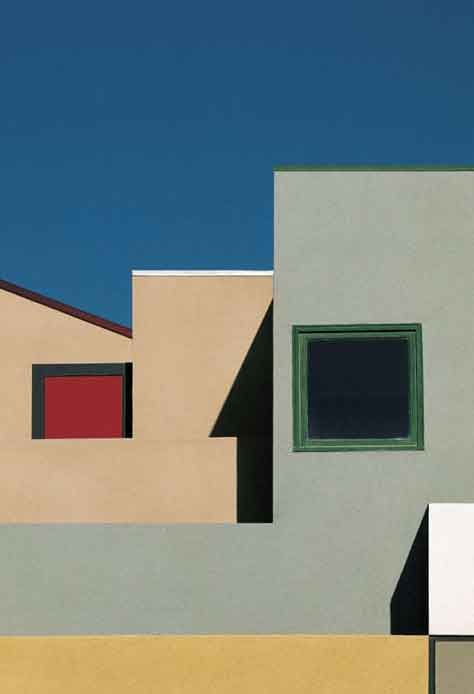 Franco Fontana, urban Landscape. Metaphysic painture