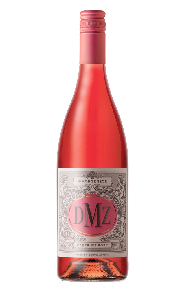 """DeMorgenzon DMZ Cabernet Rose 2012 via winemaker: """"DMZ is De Morgenzon's value label, where the objective is to produce classic, elegant, well-balanced wines which over-deliver in terms of quality for price. This crowd-pleasing rosй displays alluring aromas and juicy flavors of pomegranate, watermelon and strawberries, accented with delicate floral and spice hints."""""""