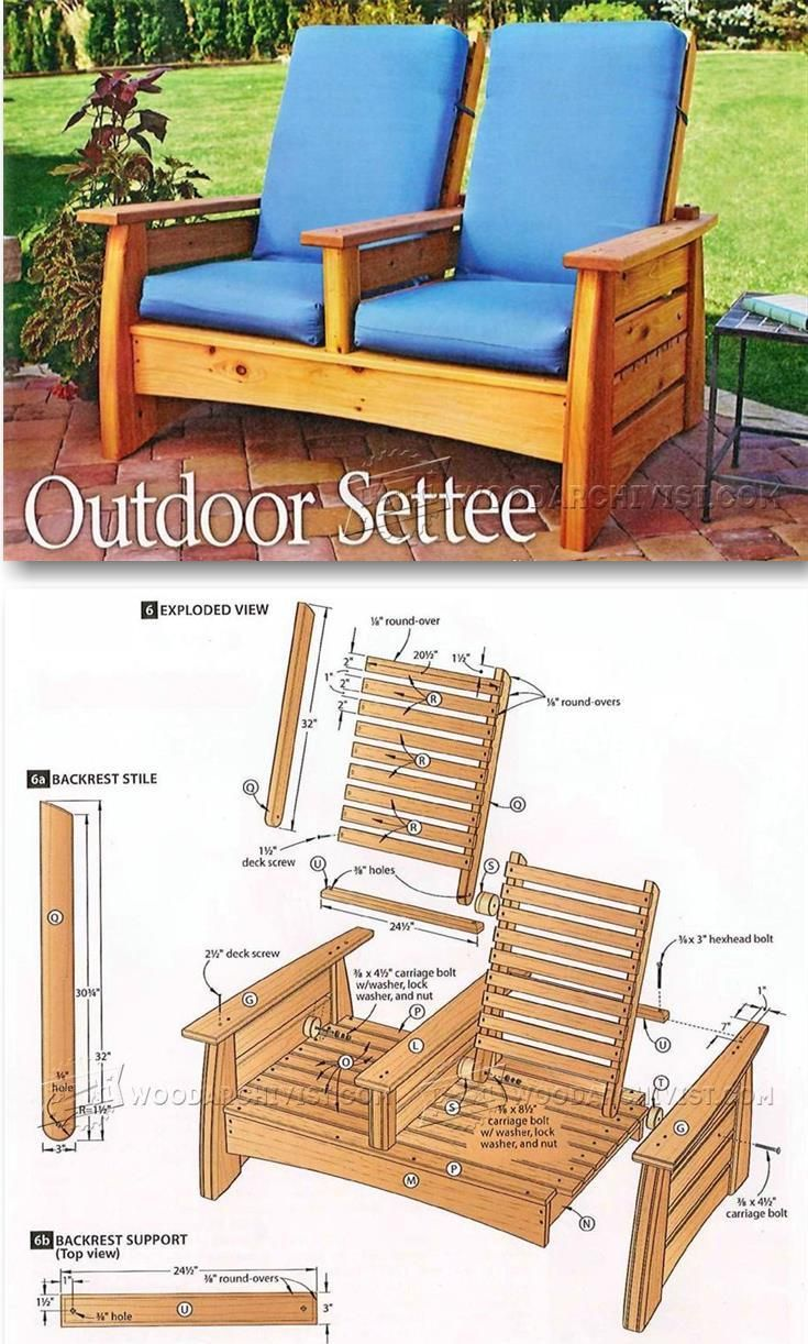 Wood Patio Furniture Plans 25+ best outdoor furniture plans ideas on pinterest | designer