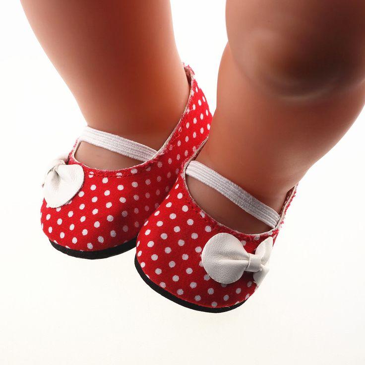 New red shoes fit 43cm Baby Born zapf, Children best Birthday Gift.
