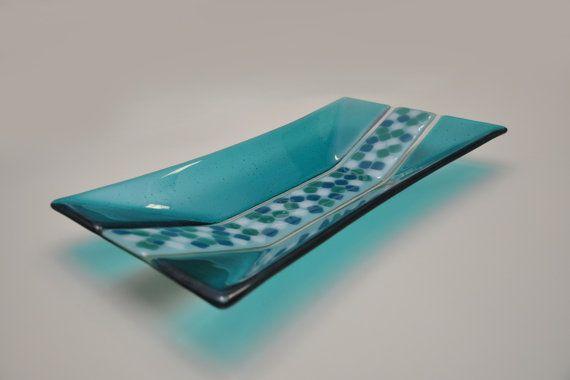 "Decorative handmade plate ""Via by ASTGLASS,"