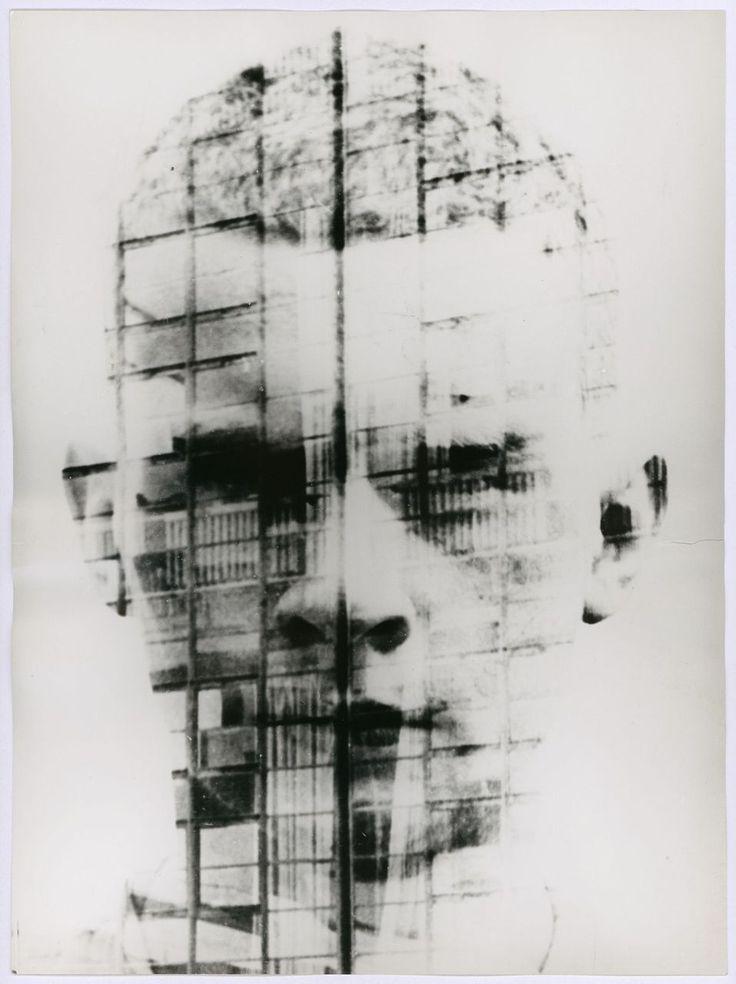 Hajo Rose   Self Portrait In Front Of The Bauhaus Façade, Ca. 1930