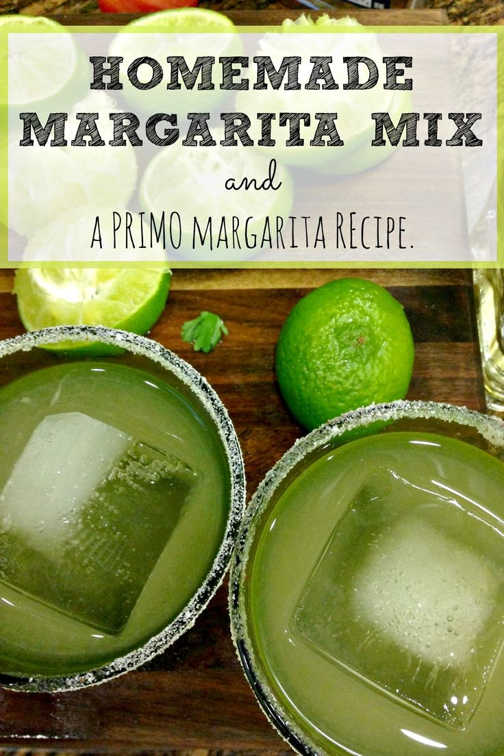 Sometimes, you just need a margarita: that icy combination of citrus and tequila just can't be beat. But if you've checked the ingredients of most bottled margarita mixes you'll see there's no actual juice in them! Here's a homemade margarita mix #recipe that delivers that sweet and tart combination you're craving, along with a recipe for a PRIMO #margarita. Cheers!