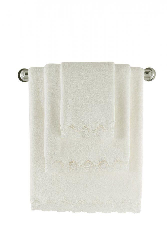 Nadýchané, mäkké a veľmi jemné froté uteráky vo smotanové farbe sú vyrobeny z egejskej bavlny, s výbornou savosťou a dlhou životnosťou.