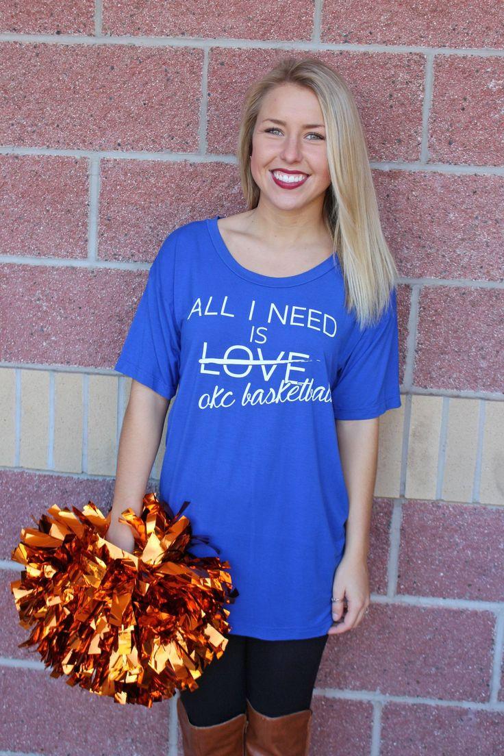 All I need is OKC basketball boyfriend t-shirt