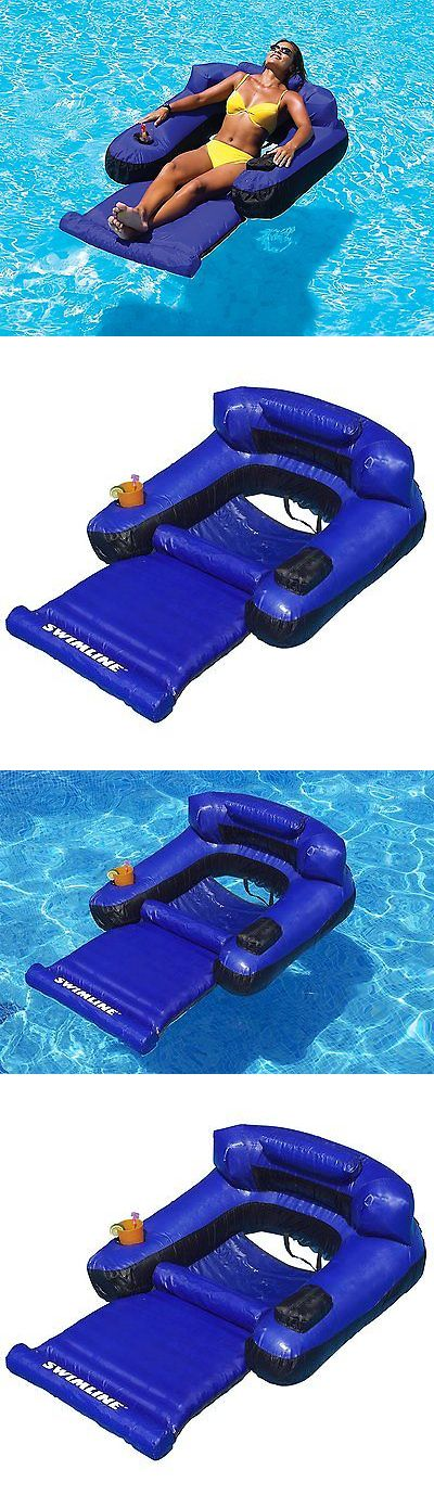Floats and Rafts 181055: Inflatable Floating Lounge Chair Pool Swimming Float Raft Fabric Covered Arm -> BUY IT NOW ONLY: $58.79 on eBay!