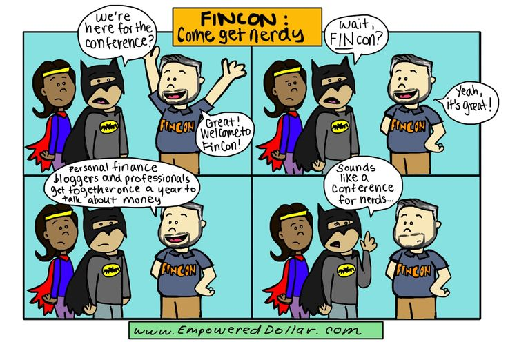 FinCon is for nerds, right? Check out this funny comic strip from Stephanie at The Empowered Dollar.