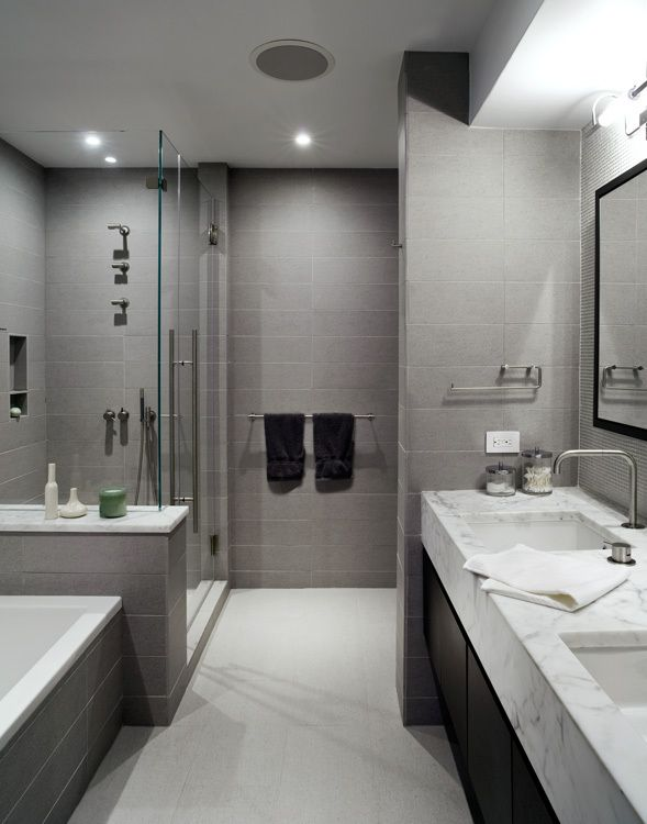 Duane Park Loft | Wunderground Architecture + Design | Archinect ·  Contemporary Grey BathroomsGrey ...