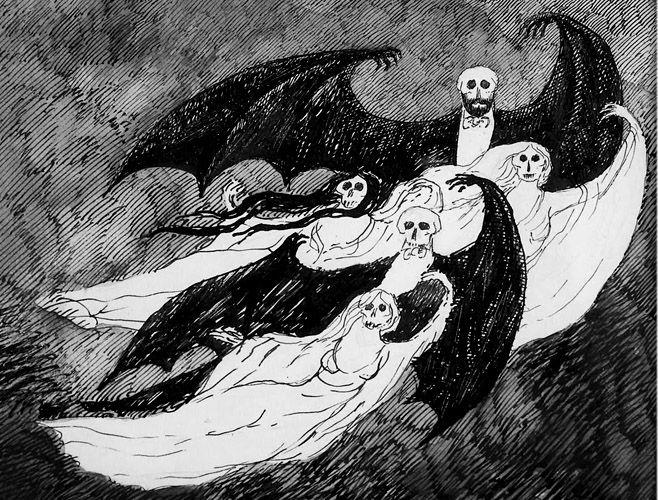 Vampire Book Cover Art : A clutch of vampires gorey cover art for