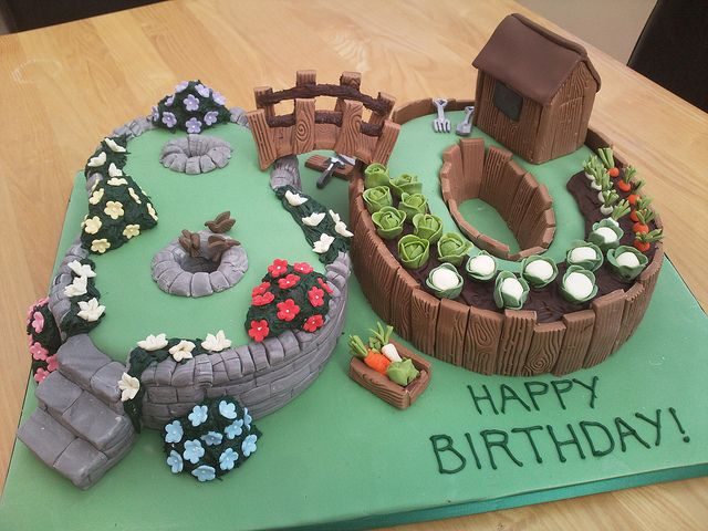 80th birthday garden cake | Flickr - Photo Sharing!