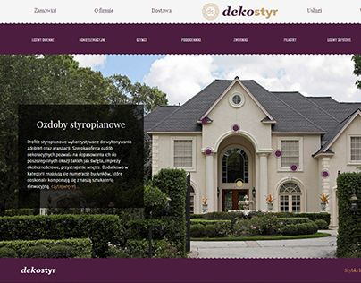 "Check out new work on my @Behance portfolio: ""Dekostyr - projekt strony z wyrobami sztukateryjnymi"" http://on.be.net/1Goppfp"