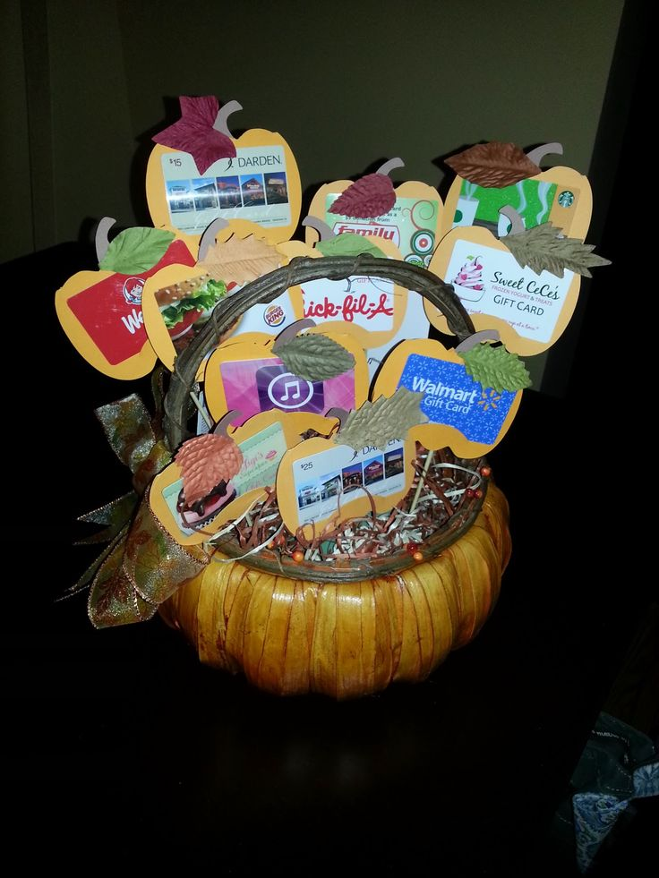 Check out Jackie's pumpkin basket for fall festival.  Full of gift cards, this will hopefully raise some money at auction to help support he...