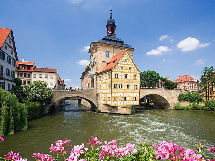 Bamberg, Germany, While Munich is better known as a beer destination, Bamberg is also a Bavarian gem. It's home to nine breweries, many of which are located in the astoundingly well-preserved old town. #germany