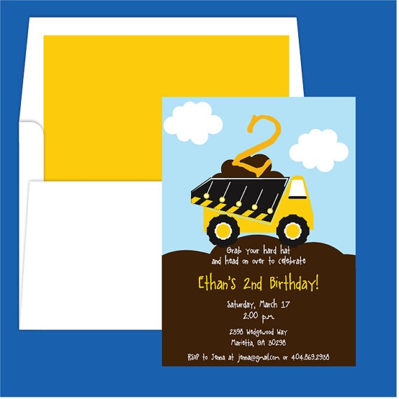 17 Best images about Truck birthday party – Tonka Birthday Invitations