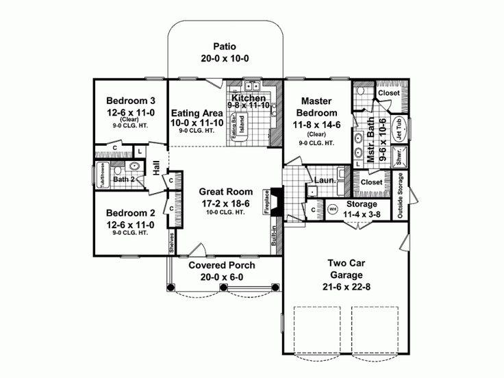 Bungalow House Plan Charming Brick Bungalow 1500