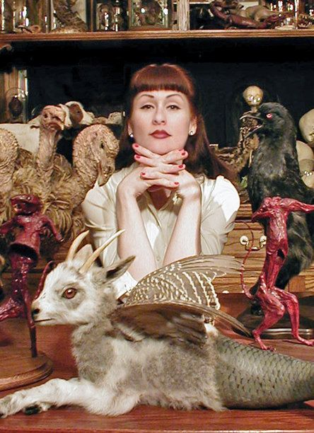 Sarina Brewer, taxidermy artist.