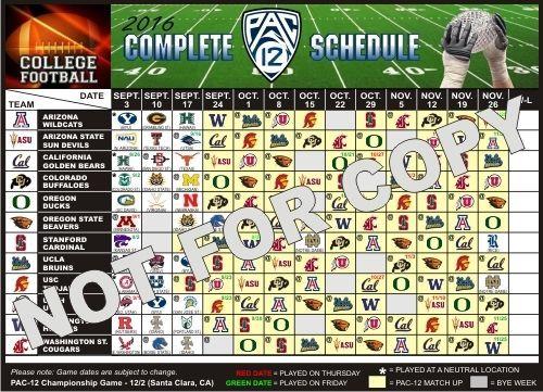 2016 Oregon Ducks, Oregon State Beavers + All - Large Football Schedule Magnet…