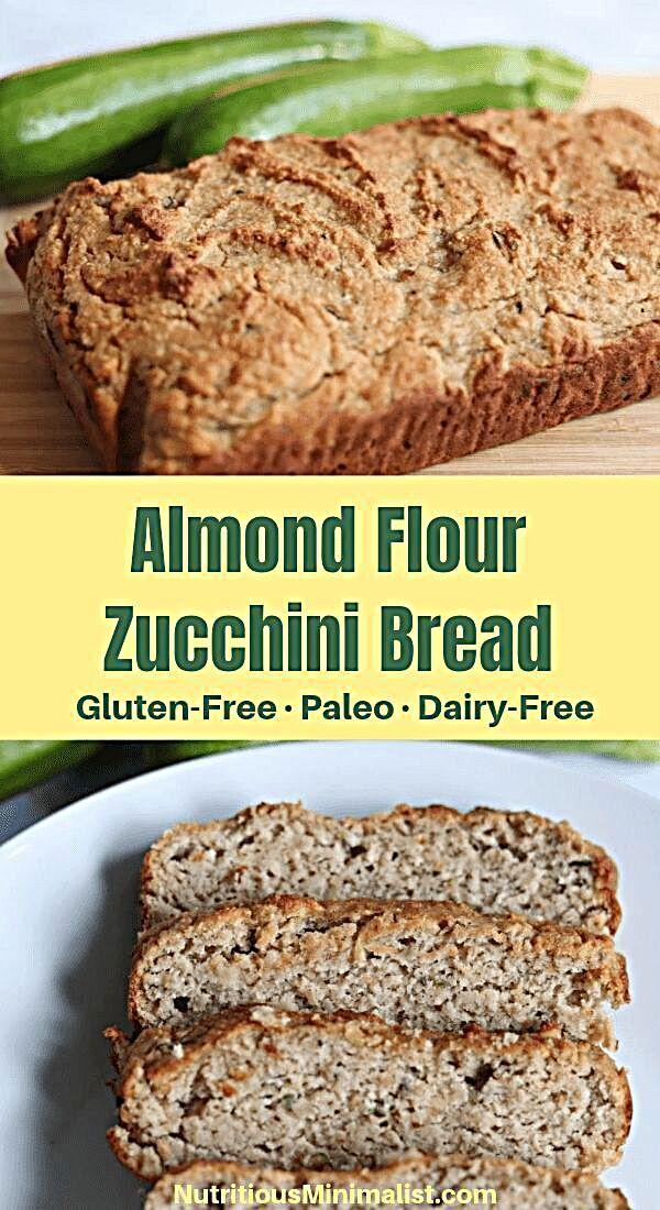 Gluten Free Almond Flour Zucchini Bread Nutritious Minimalist Recipe In 2020 Gluten Free Zucchini Bread Healthy Bread Recipes Zucchini Bread Recipes