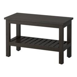 "HEMNES Bench, black-brown stain - 32 5/8 "" - IKEA"