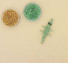 Perles d'Eden - Tutoriel crocodile en perles de rocailles