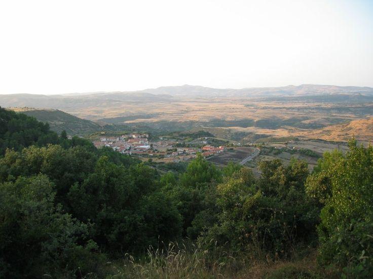 Vista su Banari e sulla valle...