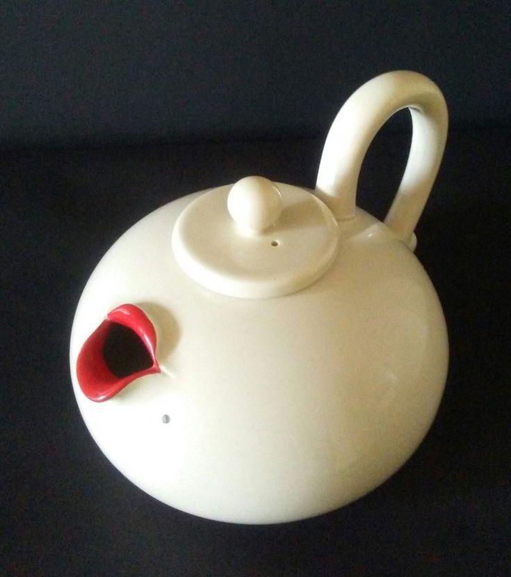 "Vintage Marilyn Monroe ""Lip Service"" Porcelain Teapot by Fitz And Floyd (1978)"