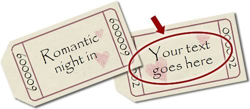 Personalized romantic coupons