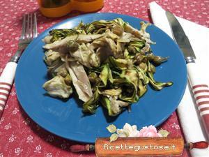Coniglio freddo con zucchine grigliate